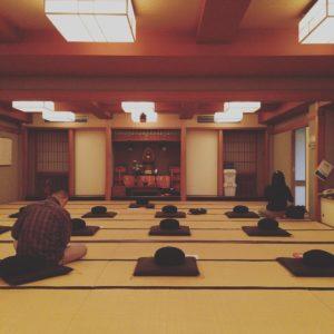 台風の日の坐禅会